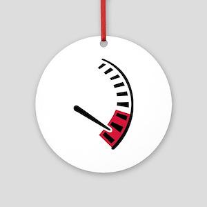 Speedometer car racing Ornament (Round)