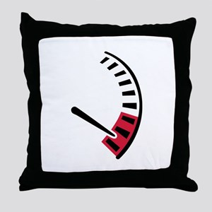Speedometer car racing Throw Pillow