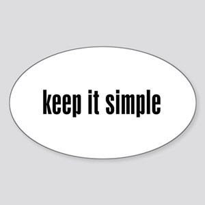 KEEP IT SIMPLE - Oval Sticker