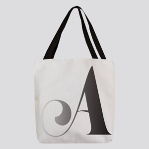 Monochromatic A Scroll Monogram Polyester Tote Bag