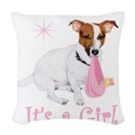 Its a girl # 2 Woven Throw Pillow