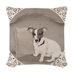 The Sophisticated JRT Woven Throw Pillow