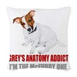 GREYS FAN Woven Throw Pillow