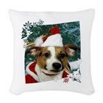 3-Merry Christmas Jack Russell Terrier 2 Woven