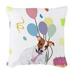 JRT Happy Birthday Gifts Woven Throw Pillow