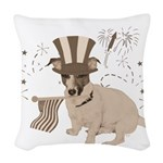 Patriotic Jack Russell with Flag (Vintage) on Wove