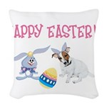 JRT and the Easter Bunny1 Woven Throw Pillow