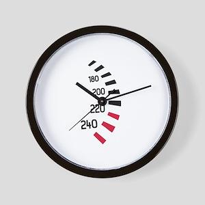 Speedo car racing Wall Clock