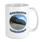 Blue skies winding roads Ceramic Mugs