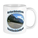 Blue skies winding roads Small Mugs