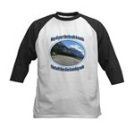 Blue skies winding roads Baseball Jersey