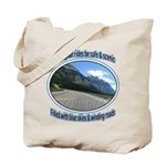 Blue skies winding roads Tote Bag