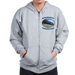 Blue skies winding roads Zipped Hoody