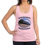 Blue skies winding roads Racerback Tank Top