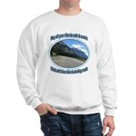 Blue skies winding roads Sweater