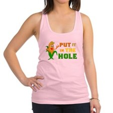 put it in the hole Racerback Tank Top