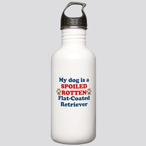 Spoiled Rotten Flat-Coated Retriever Water Bottle