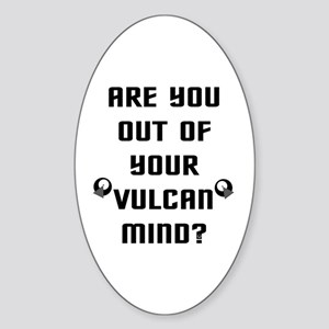 Star Trek Quote Sticker (Oval)