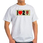 I Heart 2 Scoot Ash Grey T-Shirt