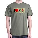 I Heart 2 Scoot Dark T-Shirt