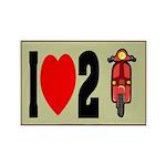 I Heart 2 Scoot Rectangle Magnet