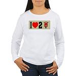 I Heart 2 Scoot Women's Long Sleeve T-Shirt