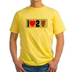 I Heart 2 Scoot Yellow T-Shirt