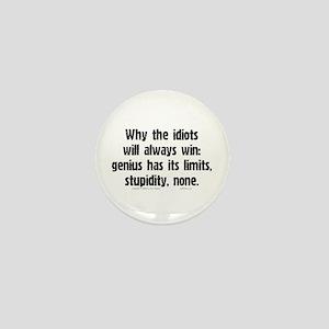 Idiots Win... Mini Button