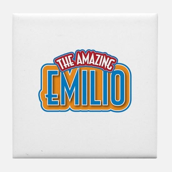 The Amazing Emilio Tile Coaster