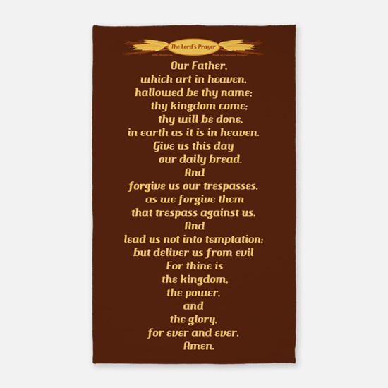 The Lords Prayer Wheat 3'x5' Area Rug