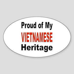 Proud Vietnamese Heritage Oval Sticker