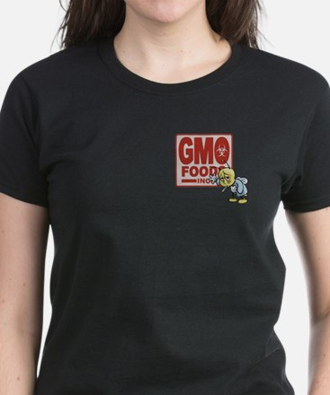 GMO Foods -Bee Women's Dark T-Shirt