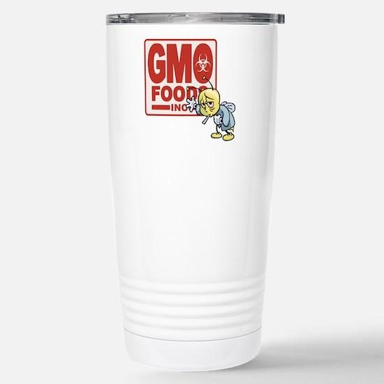 GMO Foods -Bee Stainless Steel Travel Mug