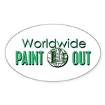 IPAP WORLDWIDE Paint Out Sticker (Oval)