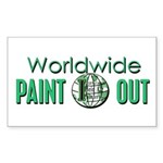 IPAP WORLDWIDE Paint Out Sticker (Rectangle)