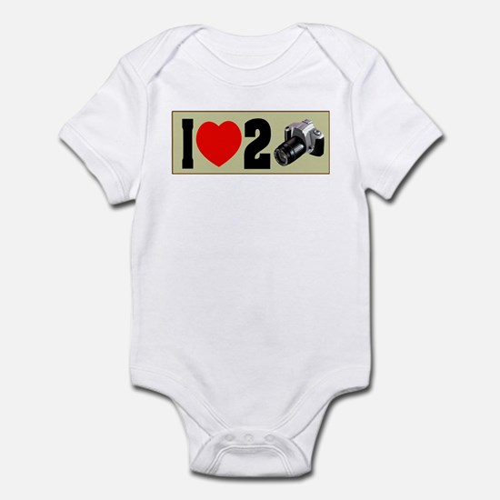 I Love 2 Take Pictures Infant Bodysuit