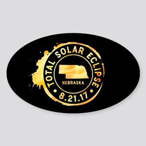Eclipse Nebraska Sticker (Oval)