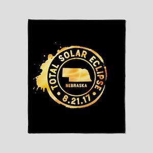 Eclipse Nebraska Throw Blanket