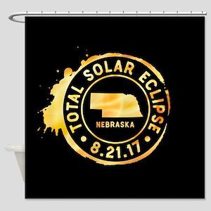 Eclipse Nebraska Shower Curtain
