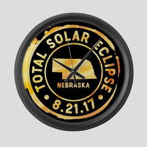 Eclipse Nebraska Large Wall Clock