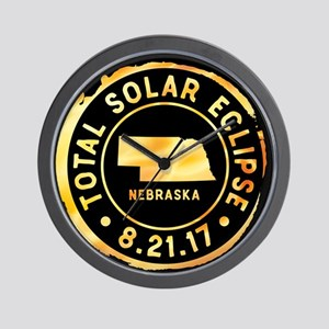 Eclipse Nebraska Wall Clock