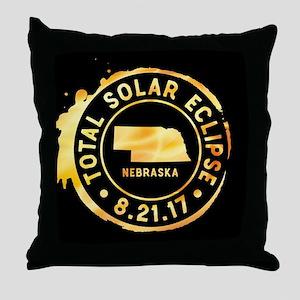 Eclipse Nebraska Throw Pillow