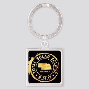 Eclipse Nebraska Square Keychain