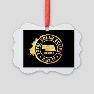 Eclipse Nebraska Picture Ornament