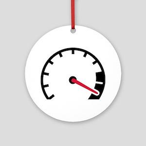 Speed car speedometer Ornament (Round)