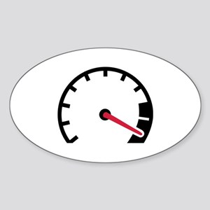 Speed car speedometer Sticker (Oval)