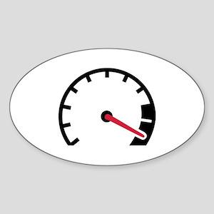 Speed car speedometer Sticker (Oval)