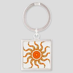 Wild Sun Jewel Square Keychain