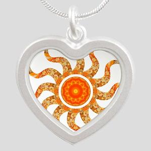 Wild Sun Jewel Silver Heart Necklace