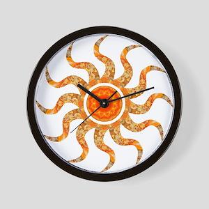 Wild Sun Jewel Wall Clock